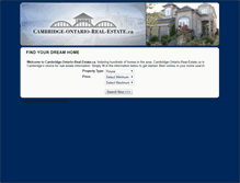 Tablet Preview of cambridge-ontario-real-estate.ca